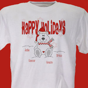 Happy Holidays Personalized T-shirt