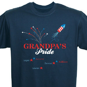 Red, White and Blue Pride Personalized T-Shirt