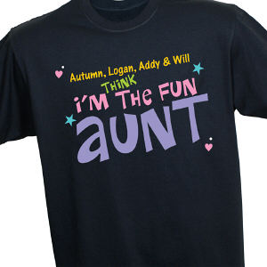 Personalized Fun Aunt T-Shirt