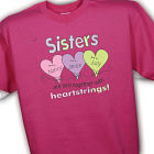 Personalized Heartstrings Sister T-Shirt