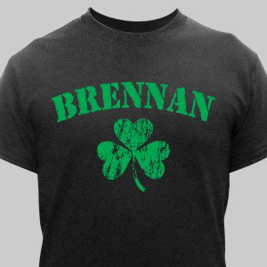 Personalized Irish Shamrock T-Shirt | Personalized Gifts