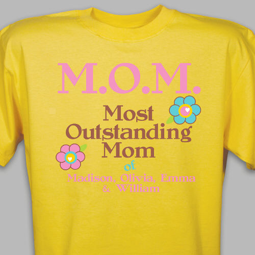Personalized Outstanding Mom T-Shirt | Mom TShirts