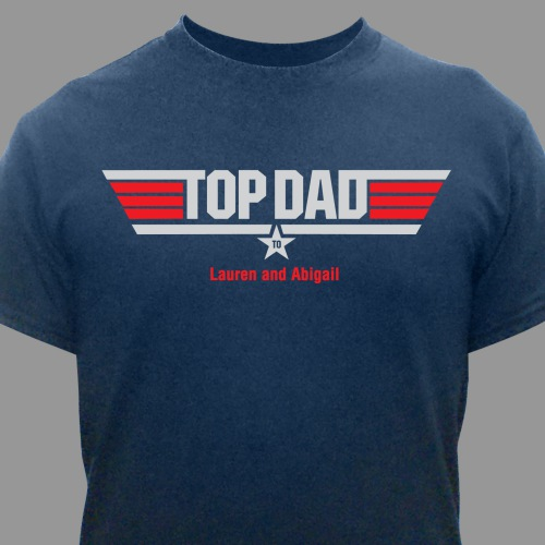 Personalized Top Dad T-Shirt | Dad Tshirt
