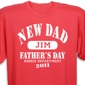Personalized Rookie Dad T-Shirt