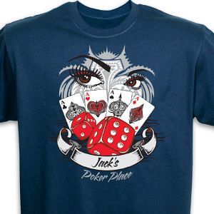 Personalized Poker Place Graphics T-Shirt