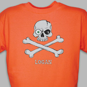 Personalized Skull and Crossbones T-Shirt