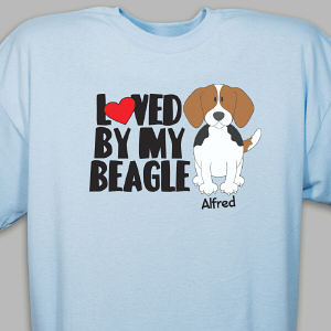 Personalized Loved By My Beagle T-Shirt