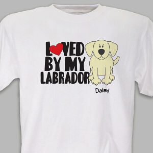 Personalized Loved By My Yellow Lab T-Shirt