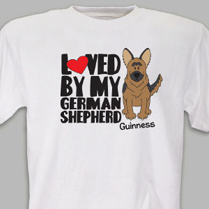 Personalized Loved By My German Shepherd T-Shirt