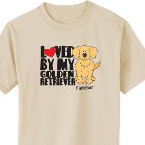 Personalized Loved By My Golden Retriever T-Shirt