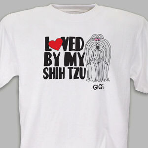 Personalized Loved By My Shih Tzu T-Shirt