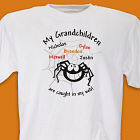 Caught In My Web Personalized Halloween T-Shirt
