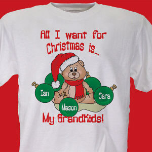 Custom All I Want for Christmas T-shirt