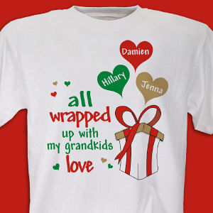 Personalized All Wrapped Up in Love Shirt