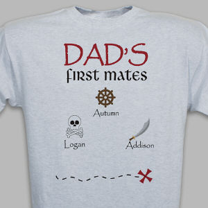 Personalized First Mates Pirate T-Shirt