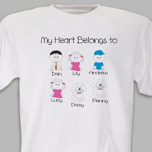 Personalized My Heart Belongs to Family T-Shirt