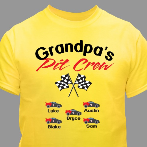 Personalized Pit Crew T-Shirt | Father's Day Presents For Grandpa