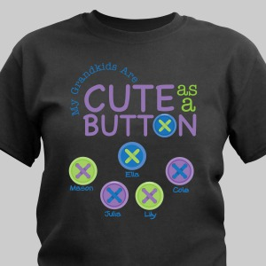Personalized Cute As A Button T-Shirt