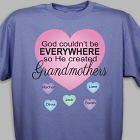Personalized God Couldn't Be Everywhere T-Shirt