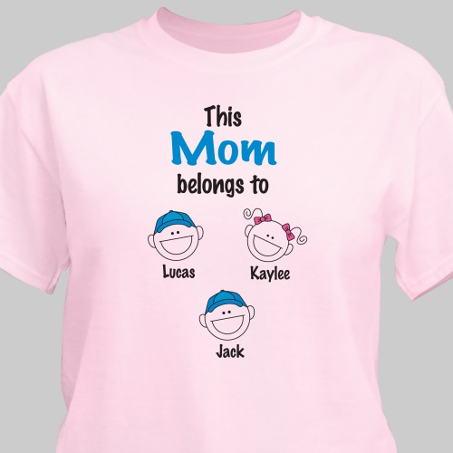 Personalized Belongs to T-Shirt | Mom Shirts