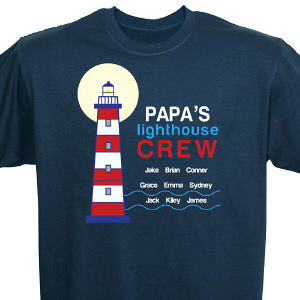Personalized Lighthouse Crew T-Shirt