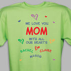 All Our Hearts Personalized T-Shirt