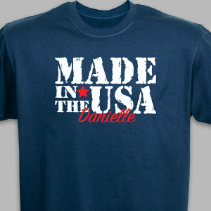 Personalized Made in the USA T-Shirt