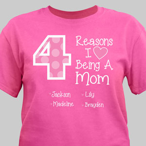 Personalized Reasons I Love T-Shirt | Mommy T Shirts
