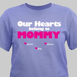Personalized Our Hearts belong to Mommy T-Shirt