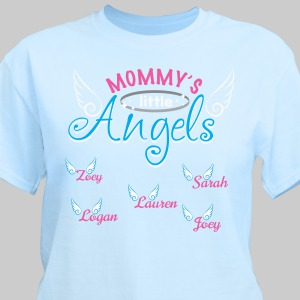 Little Angels Personalized T-Shirt | Mommy T Shirt