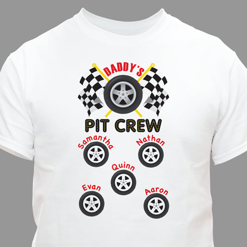 Custom Printed Pit Crew T-Shirt | Personalized T-shirts