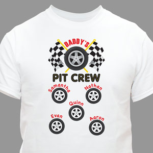 Personalized Pit Crew T-Shirt