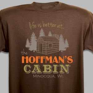 Personalized Family Cabin T-Shirt
