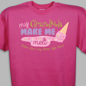 Custom Printed Grandkids T-Shirt