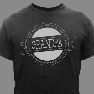 Any Name Personalized T-Shirt | Grandpa Shirts