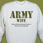 Me and the Army Personalized Military Sweatshirt
