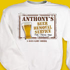 Personalized Beer Service Sweatshirt