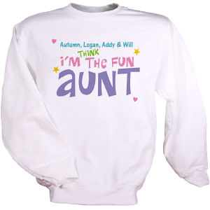 Personalized Fun Aunt Sweatshirt