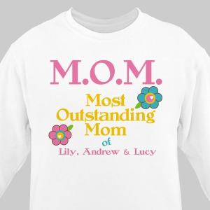 Personalized Outstanding Mom Sweatshirt