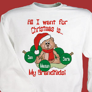 Custom All I Want for Christmas Sweatshirt