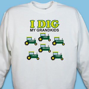 Personalized I Dig My Kids Sweatshirt