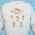 Personalized Halloween Candy Corn Sweatshirt