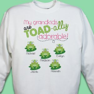Personalized Sweatshirt for Grandma