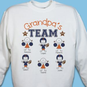 Personalized Football Team Sweatshirt
