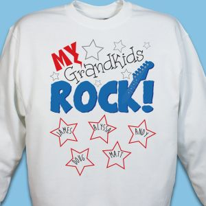 Personalized My Kids Rock Sweatshirt