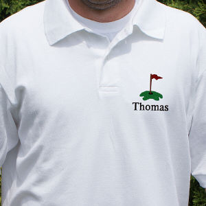 Personalized Embroidered Golf Polo Shirt Hole in One | Personalized Gifts for Him