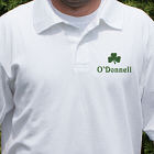 Embroidered Shamrock Polo Shirt
