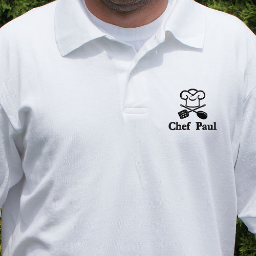 Embroidered Chef Polo Shirt 923479X