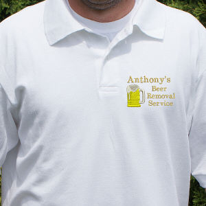 Embroidered Beer Removal Service Polo Shirt