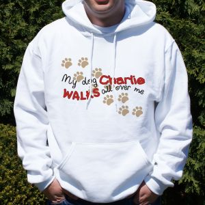 Personalized Walks All Over Me Hooded Sweatshirt